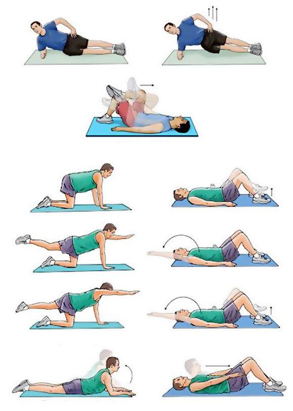 Упражнения и ЛФК для спины при грыже поясничного и крестцового отдела позвоночника: какие делать, видео