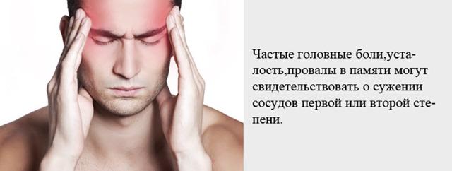Спазм сосудов головного мозга - симптомы, причины, методы лечения и последствия