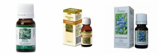 Эфирные масла для ингаляций: эвкалиптовое, пихтовое, облепиховое, чайного дерева